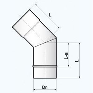 Obrazek Kolanko 0-45° - EKL 45 rozmiar 100