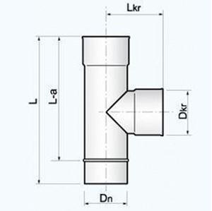 Obrazek  Trójnik 90° - ETR 90 rozmiar 150